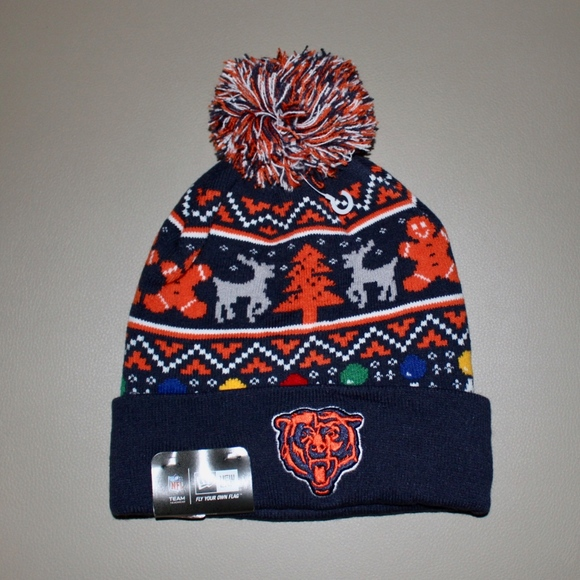 sneakers for cheap 1da5c 74de5 New Era Chicago Bears Ugly Sweater Holiday Beanie